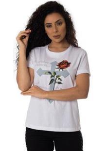 Camiseta Minha Essencia Thiago Brado Slim 6027000008 Branco - Branco - Pp - Feminino