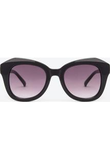 Óculos De Sol Feminino Redondo Fumê