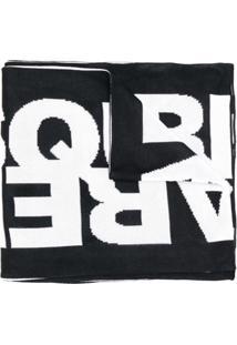 Dsquared2 Cachecol Com Logo - Preto