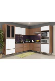 Cozinha Completa Multimã³Veis Com 9 Peã§As Calã¡Bria 5461 Nogueira/Branco - Incolor - Dafiti