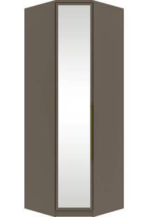Guarda-Roupa De Canto Com Espelho E 1 Porta Diamante Ii M303-Henn - Damasco