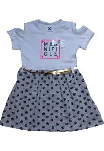 Vestido Infantil Moletom Manabana Verão