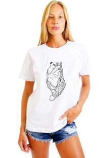 Camiseta Joss Feminina Estampada Esqueleto Heart - Feminino-Branco