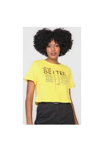 Camiseta Cropped Dimy Better Amarela