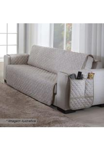 Protetor Para Sofá De 3 Lugares Matelassado- Bege & Begesultan