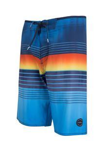 Bermuda O'Neill Boardshort Sublimado 8716A - Masculina - Azul Esc/Azul Cla