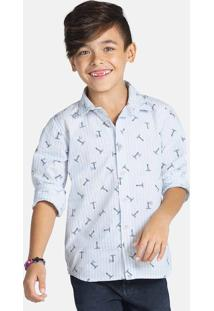Camisa Manga Longa Infantil Menino Estampado Puc