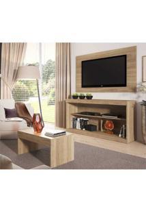 Rack C/Painel Tv Até 47 Pol Mesa Centro Inovare Multimóveis Argila Acetinado Texturizado