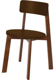 Cadeira Lina Cor Cacau Com Marrom - 31537 - Sun House