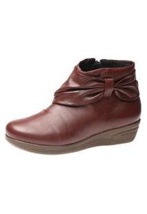 Bota Feminina Anabela Doctor Shoes 158 Vinho