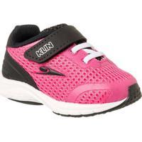 9a6d55139 Tênis Infantil Klin Mini Genesis Velcro Feminino - Feminino-Pink+Preto