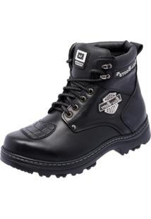 Bota Motociclista Bell Boots Couro Resistente Macia Conforto Preto