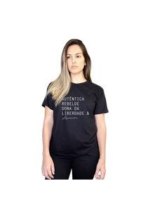 Camiseta Boutique Judith Aquariana Preto
