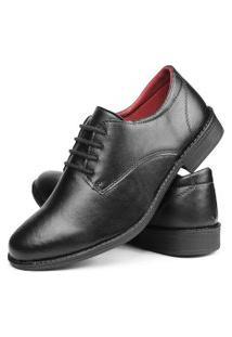 Sapato Social Bico Fino Sw Shoes Lançamento Com Cadarço Preto