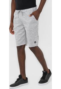 Bermuda Polo Wear Reta Amarraã§Ã£O Cinza - Cinza - Masculino - Poliã©Ster - Dafiti