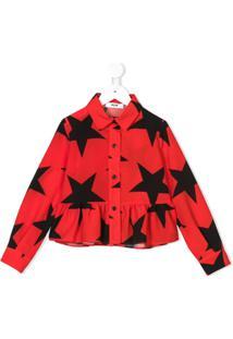 Msgm Kids Camisa Com Estampa De Estrela - Vermelho