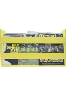 Porta Livros E Revistas De Parede 50X30X11 Amarelo