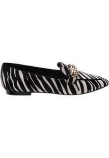 Mocassim Glam Zebra Print   Schutz