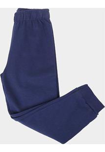 Calça Infantil Kyly Com Punho Masculina - Masculino-Marinho
