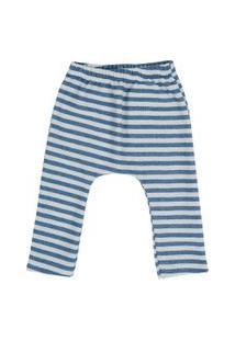 Calça Moletom Listrada Blühen Menino Azul Escuro E Azul Claro