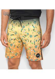 Bermuda Boardshort Oakley Mod Tropical Big Masculina - Masculino-Amarelo Claro