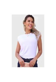 Camiseta Branca Almofadinha D Bell