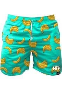 Bermuda Maromba Fight Wear Banana Com Bolsos Masculina - Masculino-Verde Claro