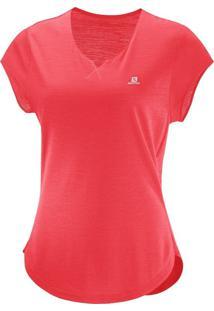 Camiseta Salomon X Ss Feminino G Laranja