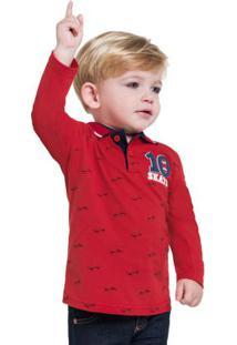 Camisa Polo Masculina Vermelho Kyly