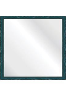 Espelho Brilho Rococo Azul 46X46Cm