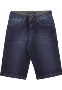 Bermuda Jeans Aleatory Florida Masculina - Masculino-Azul