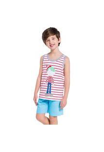 Pijama Regata Masculino Infantil Eddie Veggi