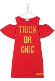 Moschino Kids Vestido Trick Or Chic - Vermelho