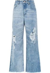 Amapô Calça Jeans Pantalona 'Pérola' - Azul