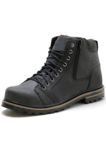 Bota Over Boots Sturdy Boot Couro Preto