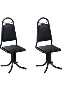 Conjunto Com 2 Cadeiras Sydney Preto