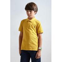 Camisa Polo Infantil Básica Reserva Mini Masculina - Masculino-Amarelo a65bda20e0146