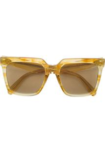 b99e39ab602b7 Celine Eyewear Óculos De Sol Quadrado - Amarelo