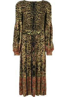 Etro Vestido Com Estampa Floral - Brown