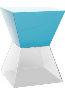 Banco | Banqueta Nitro Azul E Cristal