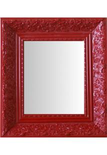 Espelho Moldura Rococó Fundo 16426 Vermelho Art Shop