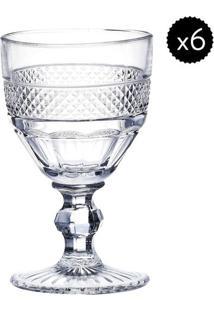 Jogo De Taças Para Vinho Mirano- Incolor- 6Pçs- Rojemac