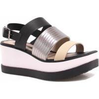 92c6ffb6e Sandália Metalizada Plataforma feminina | Shoes4you