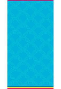 Toalha De Praia Beach - Appel - Rainbow - Azul,