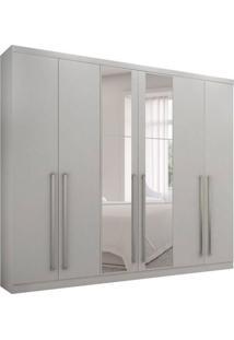 Guarda-Roupa Casal Com Espelho Kratos 6 Pt 4 Gv Branco