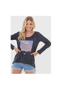 Camiseta Roxy Montains Grafite
