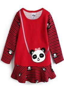 Vestido Elian Panda Vermelho