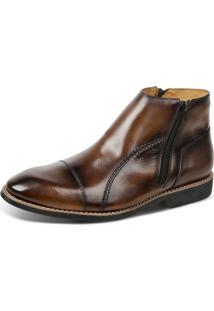 Bota Linha Premium Dress Boot Sandro Moscoloni 16730 Marrom Escuro