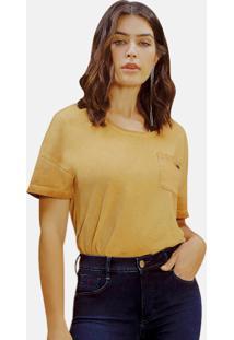 T-Shirt Riccieri Com Bolso Ocre