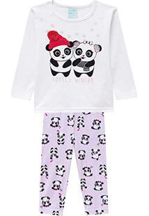 9996ec186 Pijama Infantil Feminino Blusa + Calça Kyly 206781.0001.P